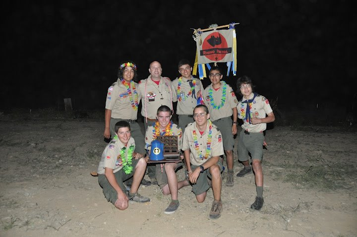 Rhino Patrol of Redlands Troop 11 Take Pop Ny Competion