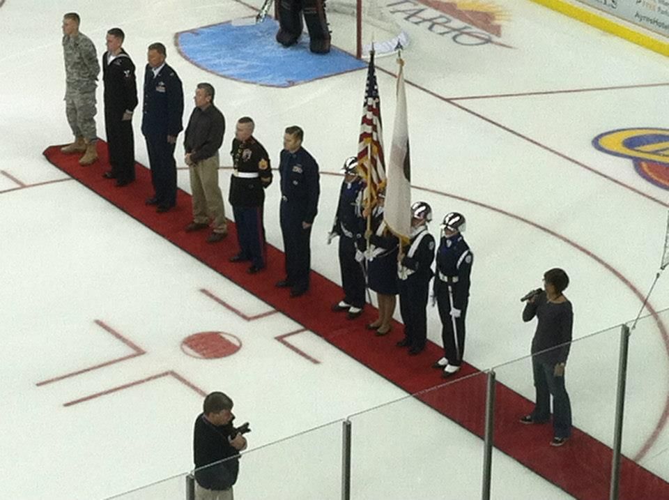 Yucaipa  ROTC led by Andrew Samaniego