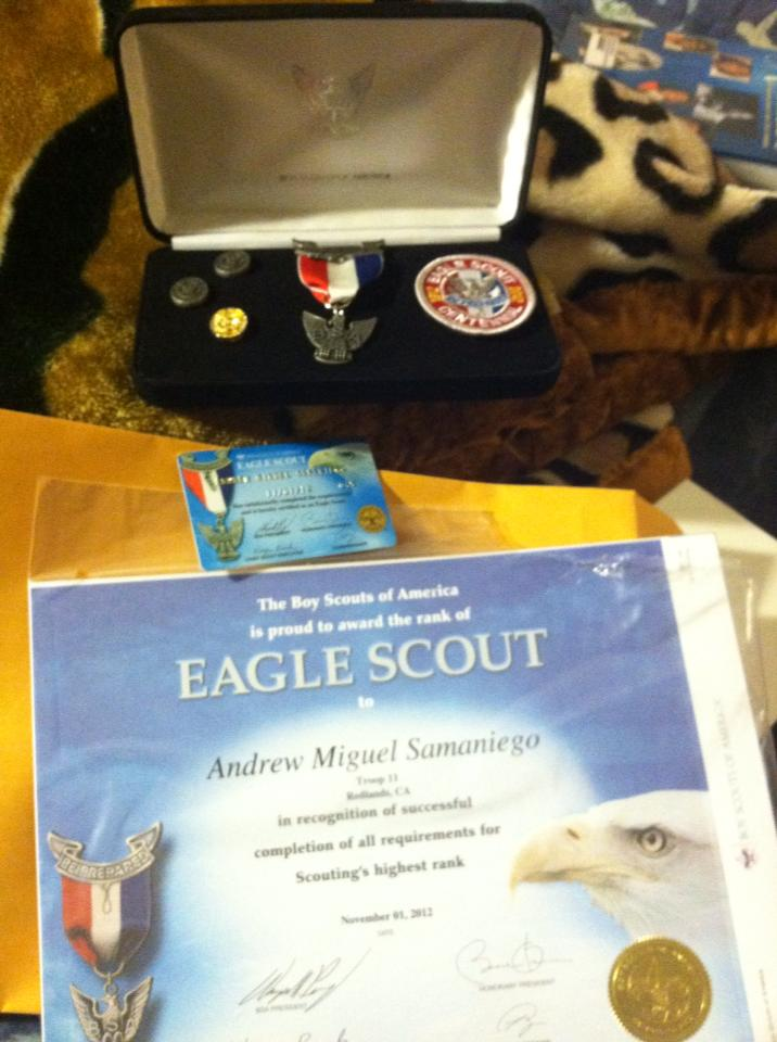Andrew Samaniego Eagle Scout Award
