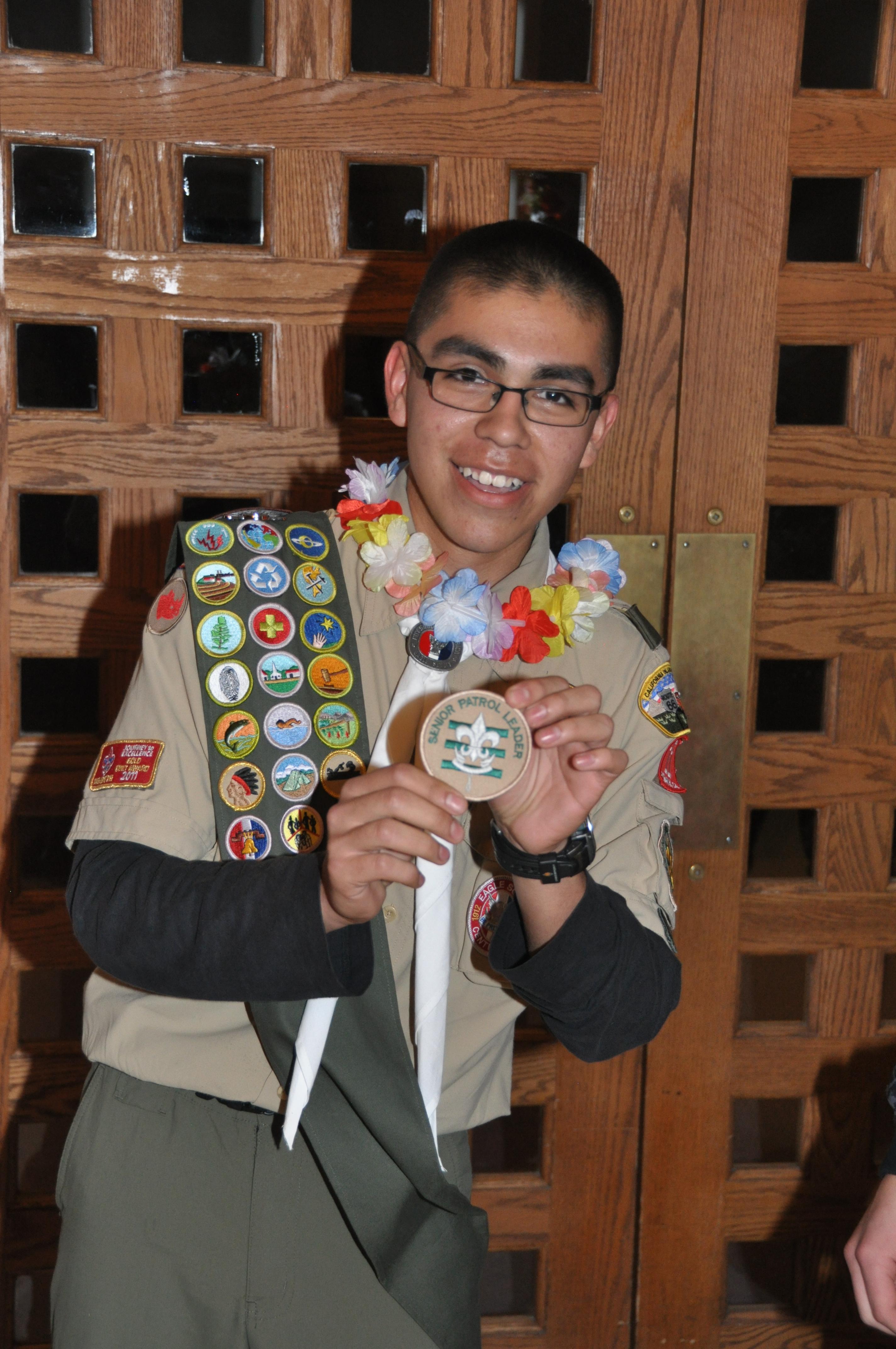 Samaniego Elected Senior Patrol Leader for Troop 11