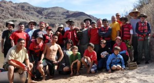 Having a great time with our Troop we went on this 3 Day Canoe Trip 25 Miles Down Colorado River from Hoover Dam.
