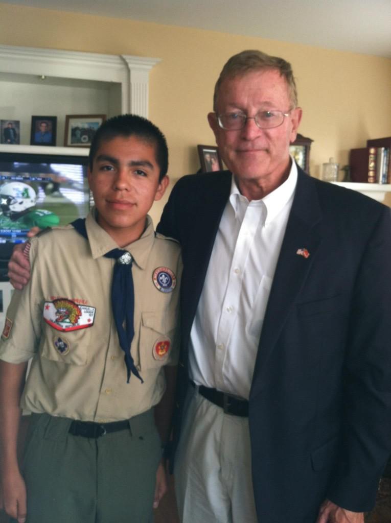 Congressman Paul Cook and Andrew Samaniego