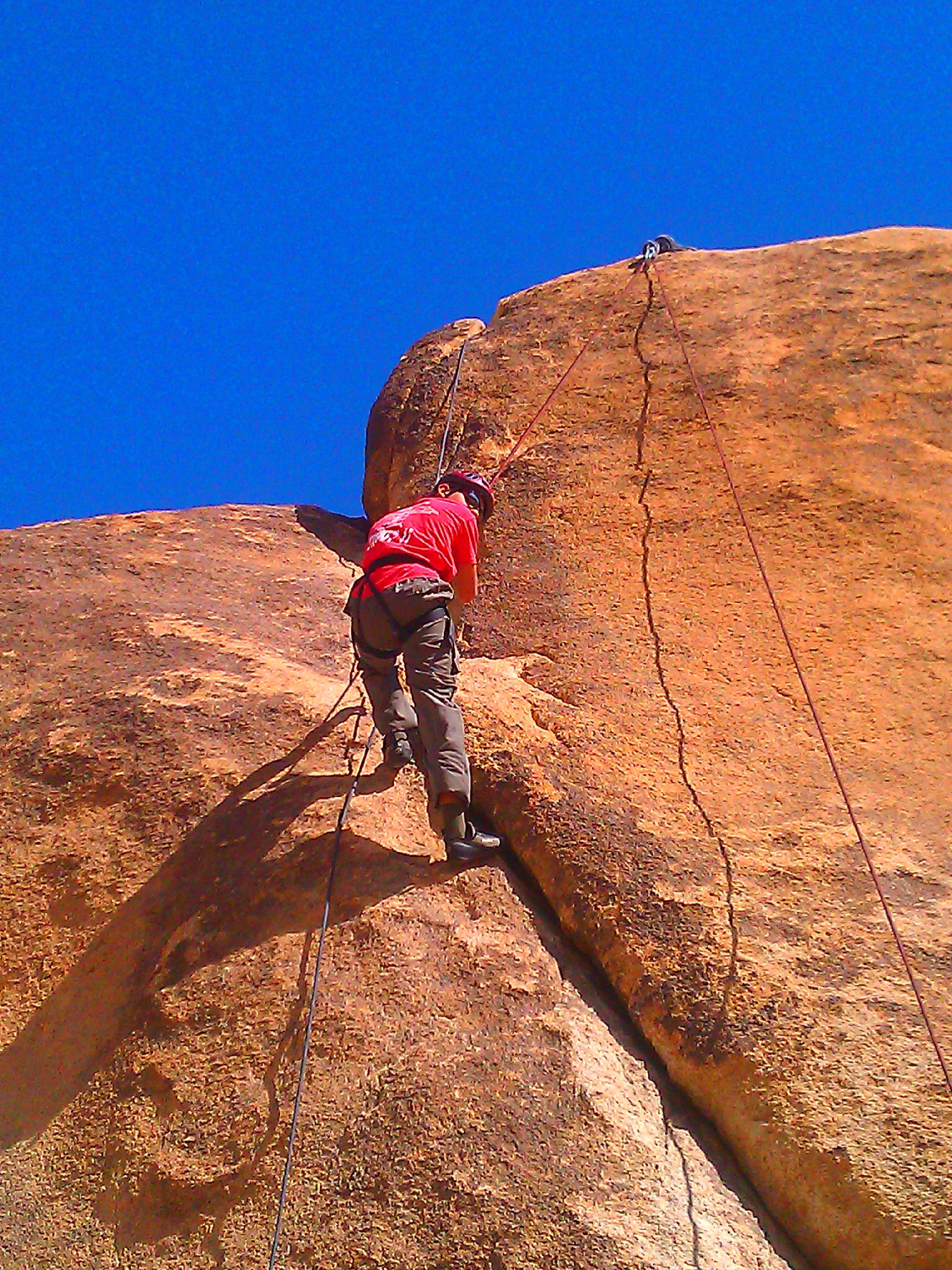 Rocking climbing tough