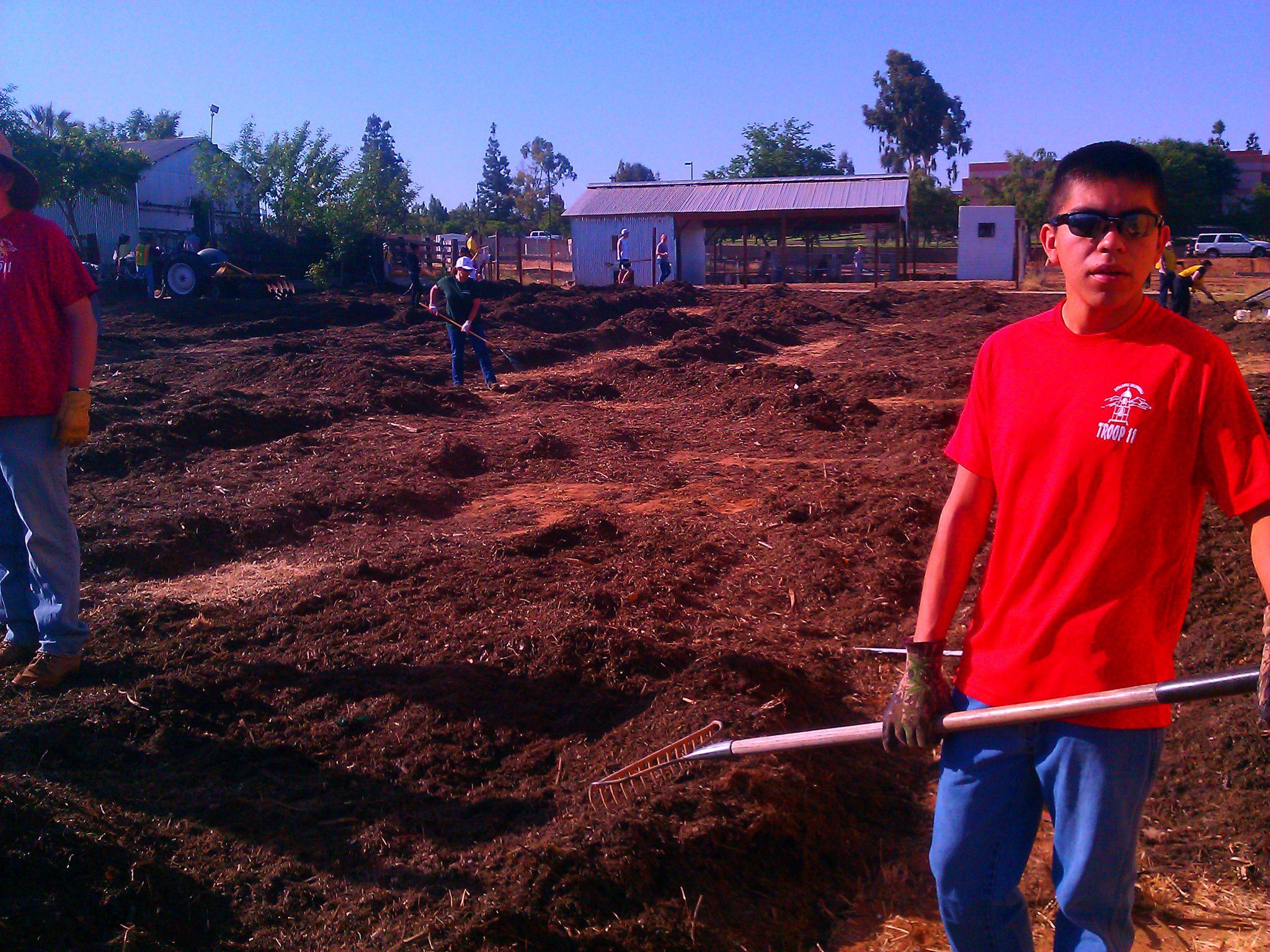 """""""Dad this is our 3rd Saturday in row doing community service and working with dirt."""""""
