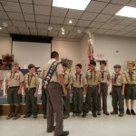 Andrew welcomes new scouts to troop 11