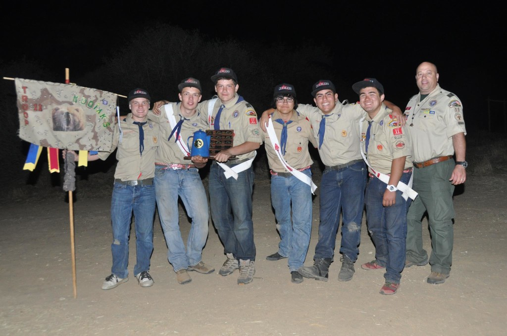 Troop 11 Kodiaks win 1st place in at Pop Nye 2013