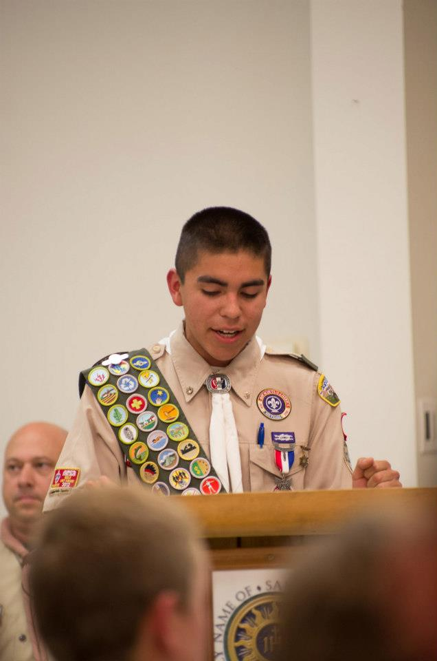 Master of Ceremonies of Troop 11 Court of Honor