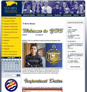 Andrew Samaniego on the Yucaipa High School website.