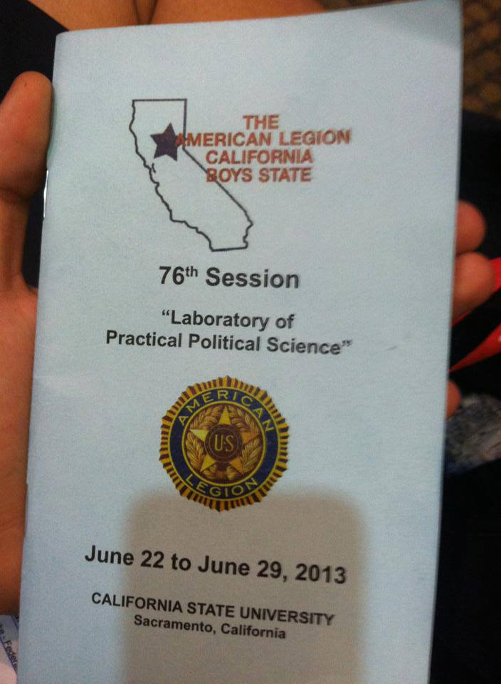 Here was our manual for the 76th Session of Boys State
