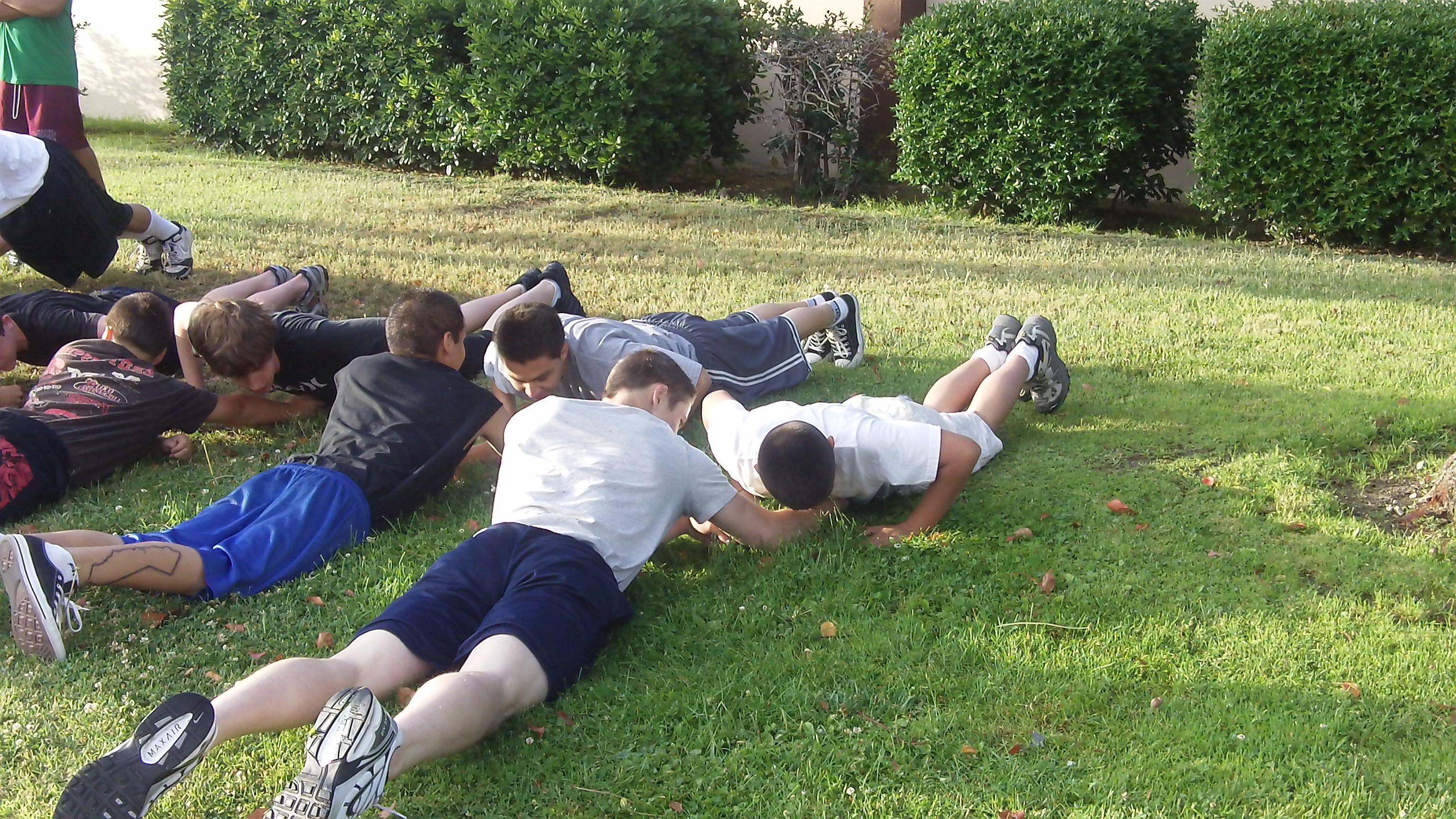 18 pushups!