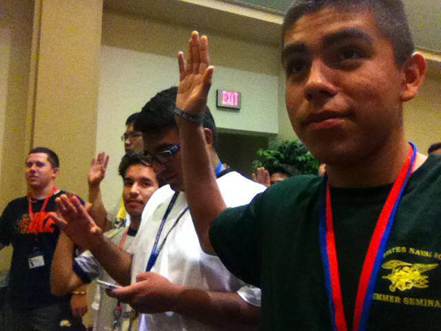 Swearing in at Boys State