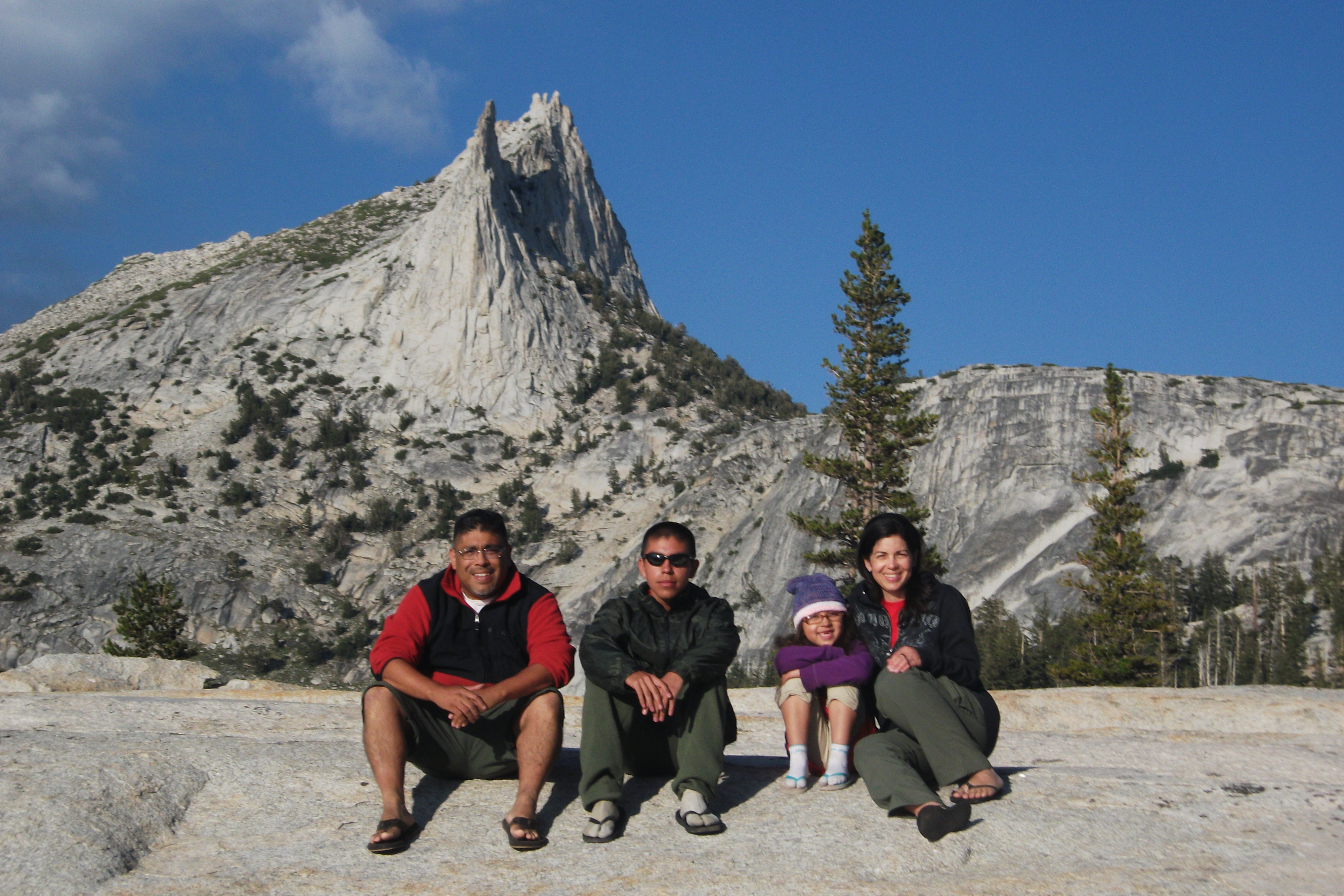 Family at Cathedral Peak