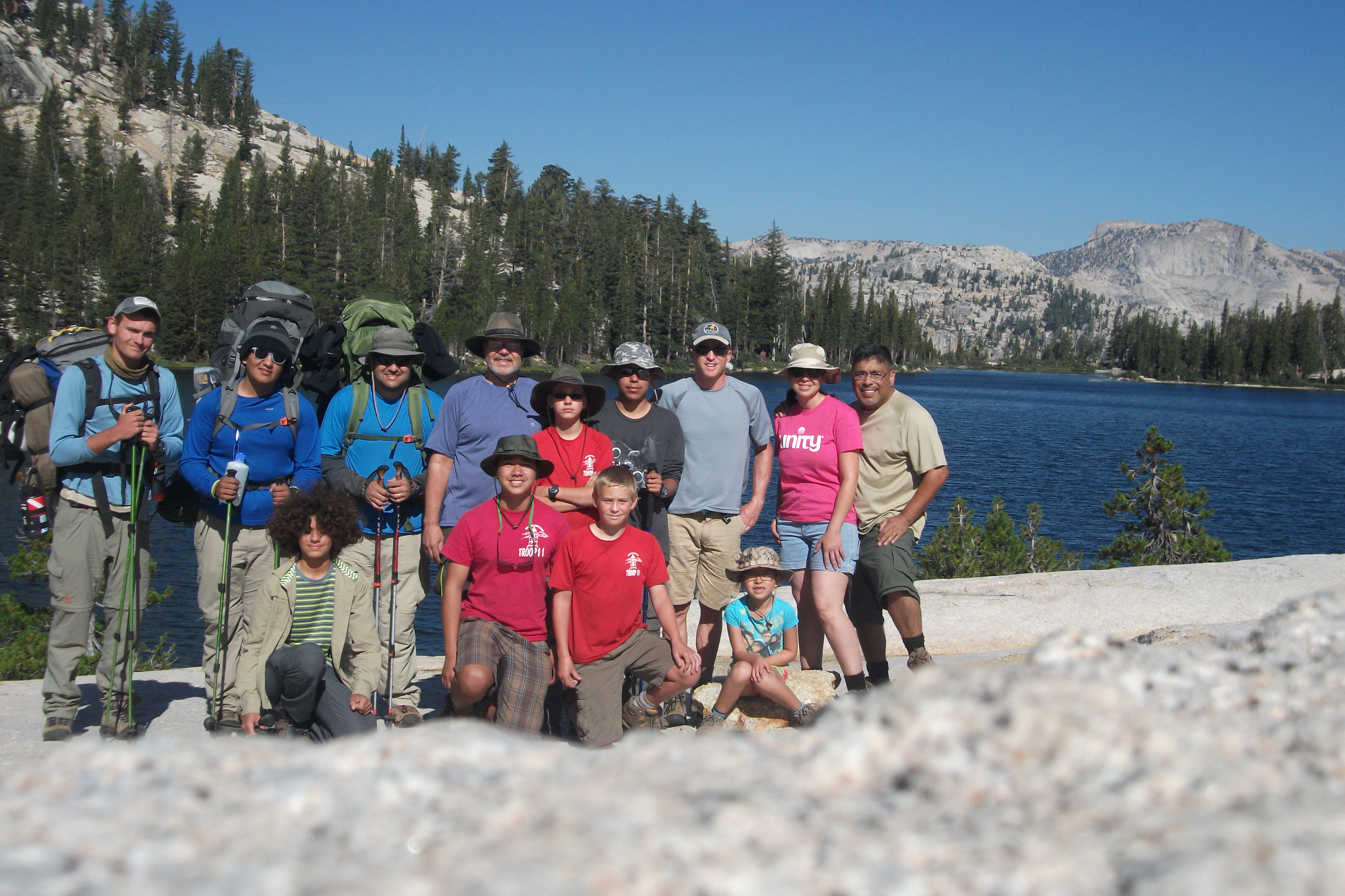 Camping on night one at Cathedral Lake