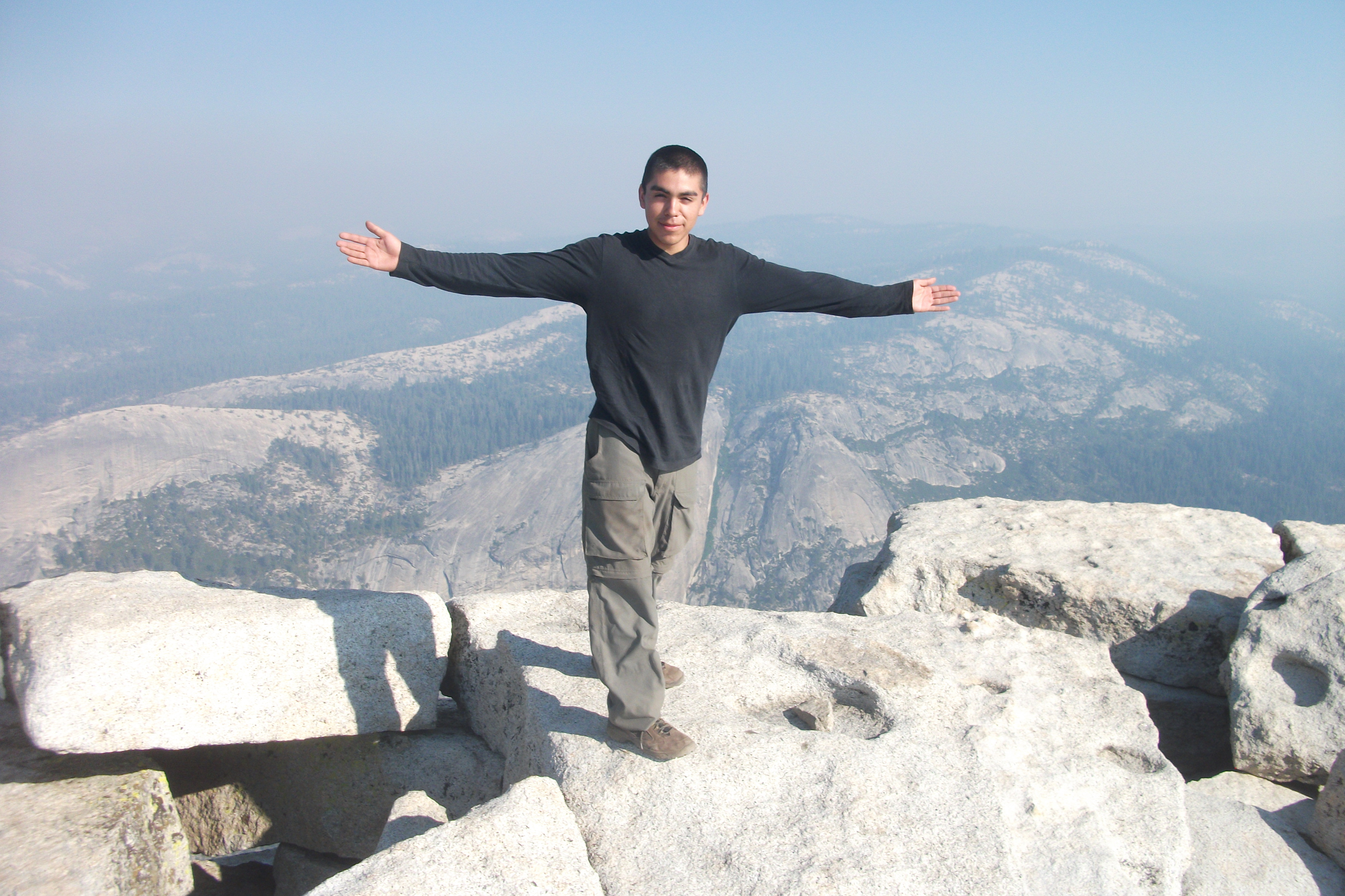 On the top of half dome.