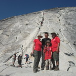 On the bottom of Half Dome