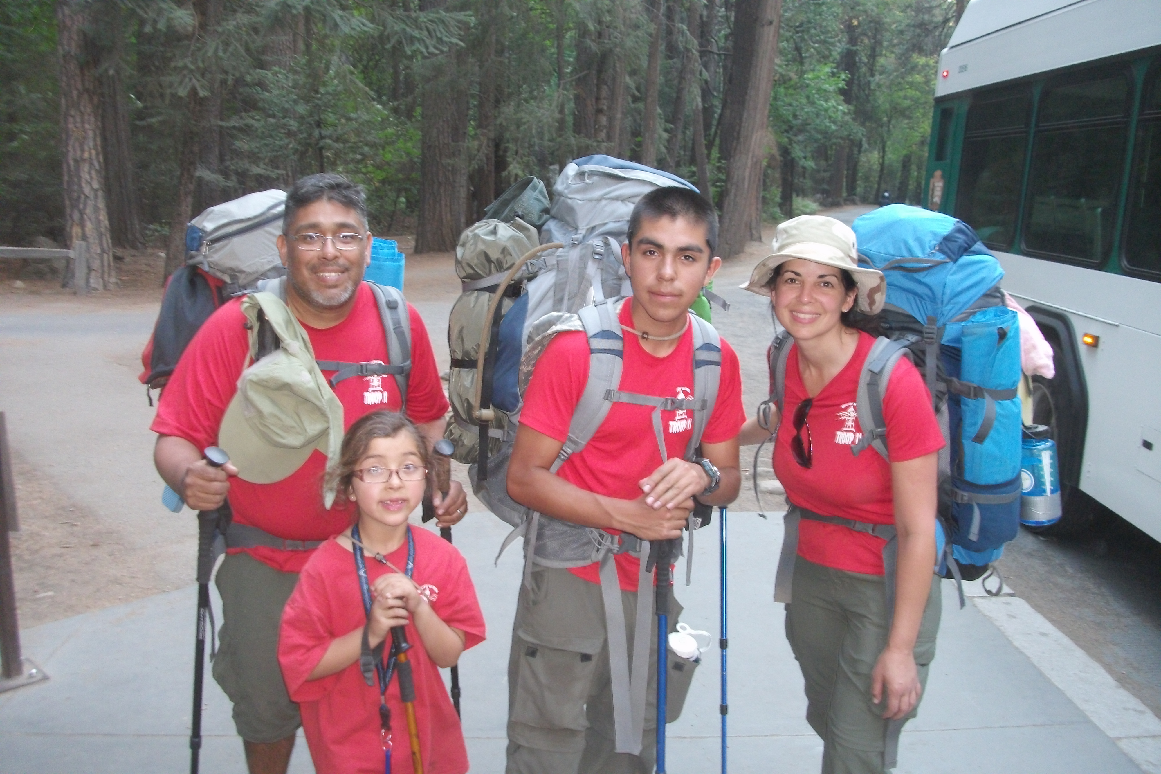 Finishing our 31 mile backpacking trip