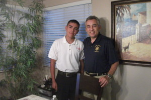 This was Mr. Riojas during my Naval Academy Blue and Gold Interview.