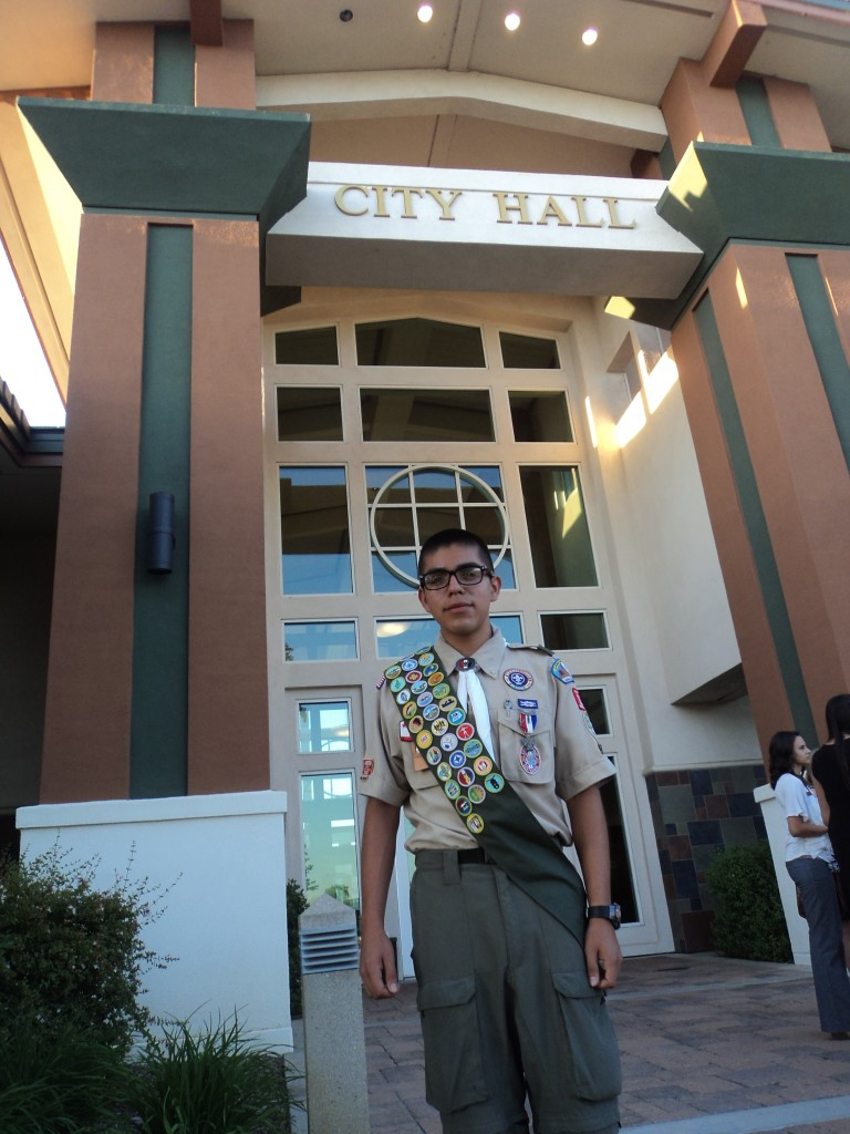 Eagle Scout Andrew Samaniego, Yucaipa Youth Commission