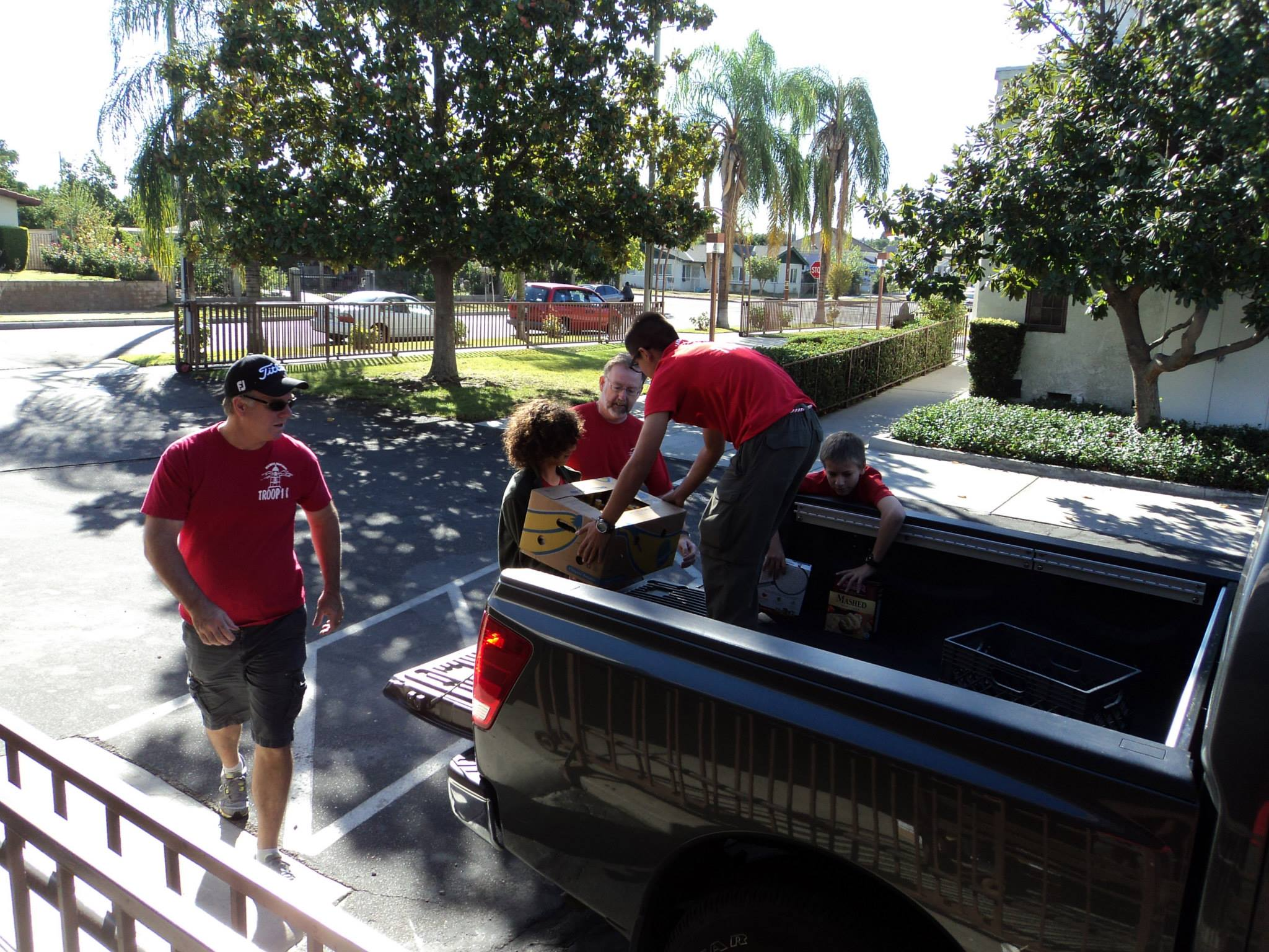 Unloading of the many  truckloads for sorting.
