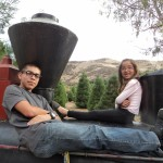 Andrew Samaniego and Bella Samaniego Relaxing