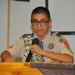 Andrew Samaniego MC of Troop 11 Court of Honor