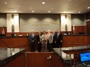 Andrew being introduced to City of Yucaipa Council Member and Mayor Hoyt