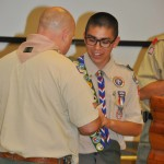 Andrew Samaniego receives his Silver Eagle Award.
