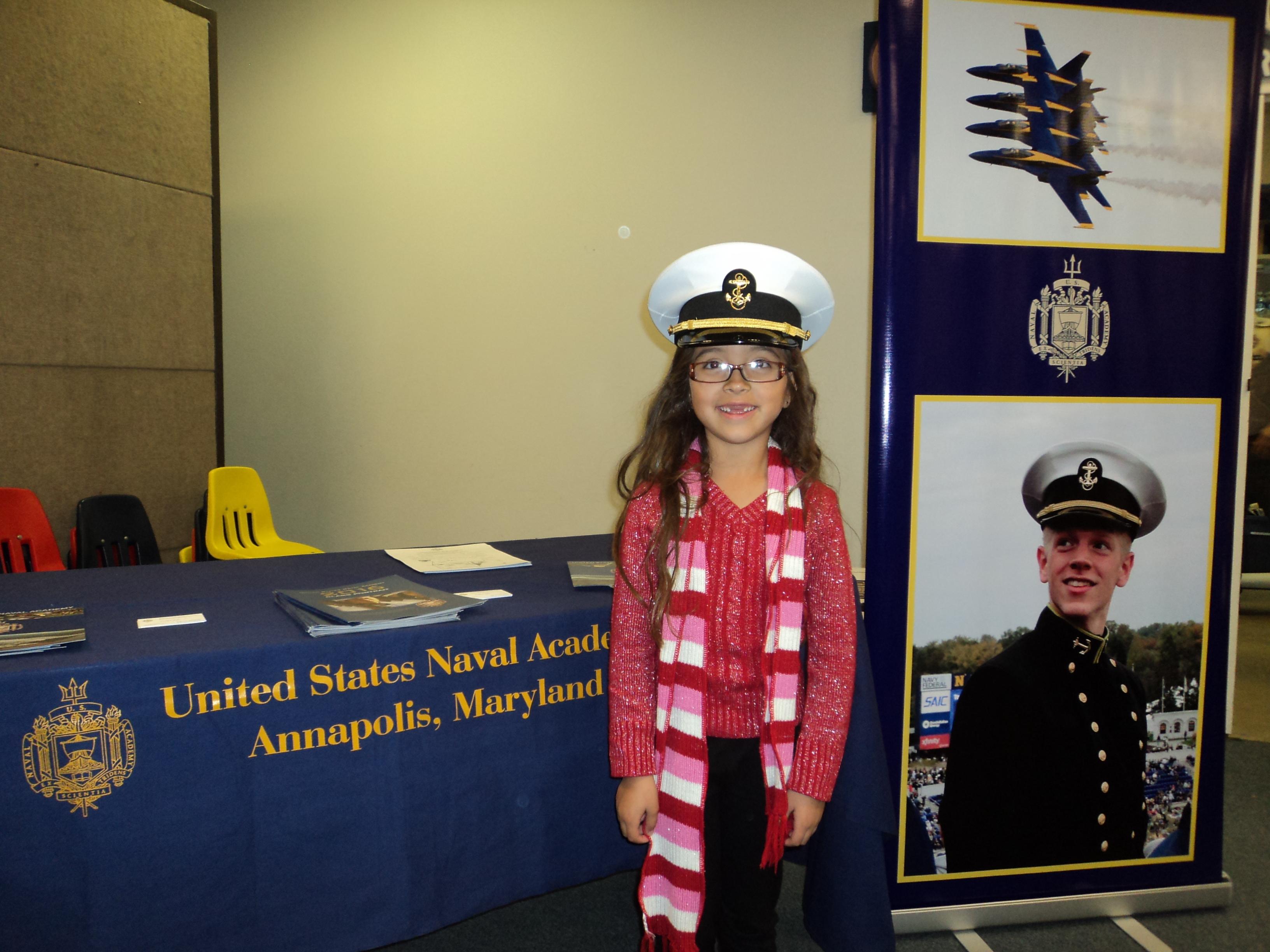 Bella Samaniego future midshipman??