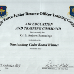 Outstanding Cadet Board Winner