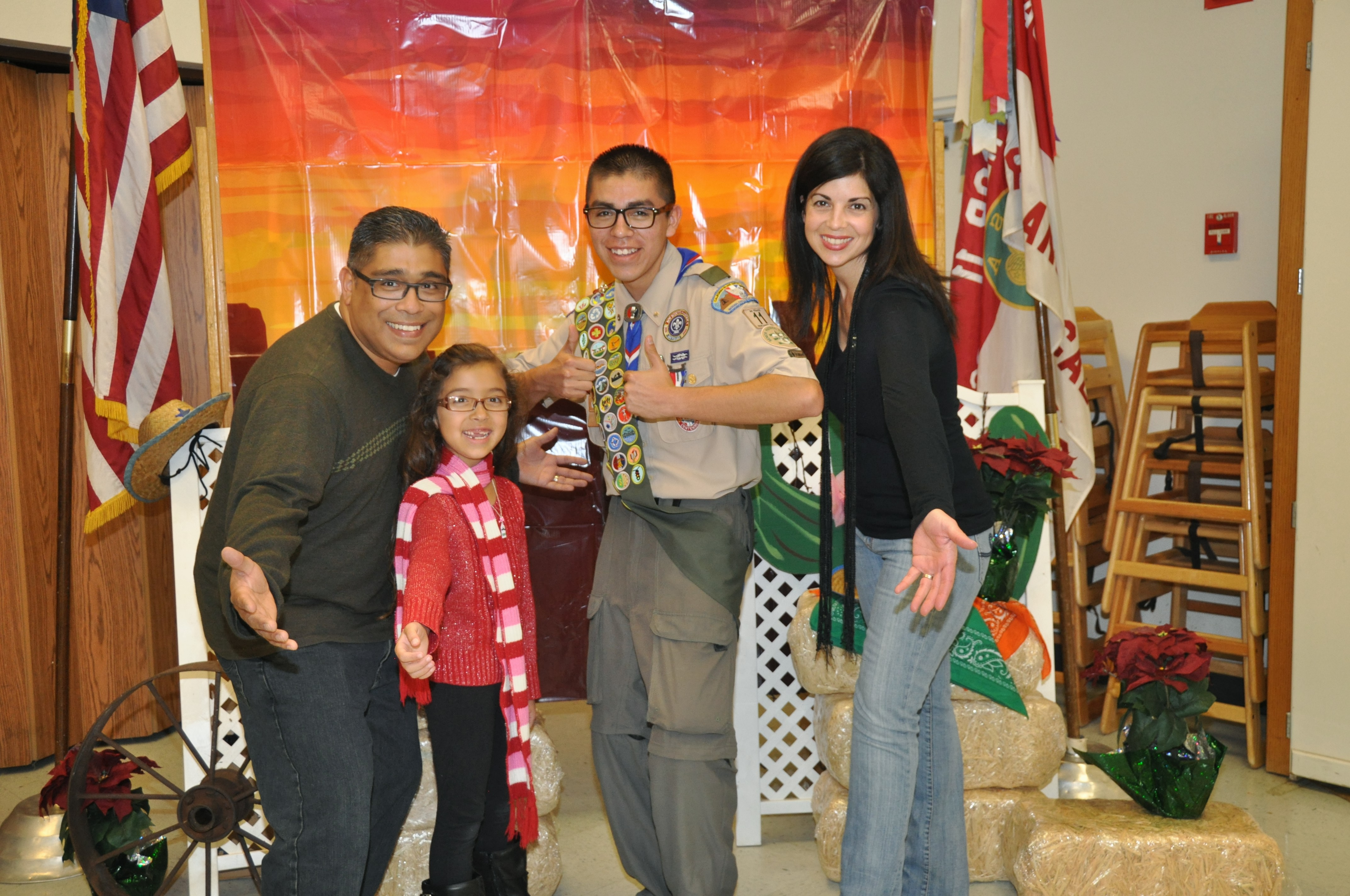 Final family Christmas picture as a Boy Scout.