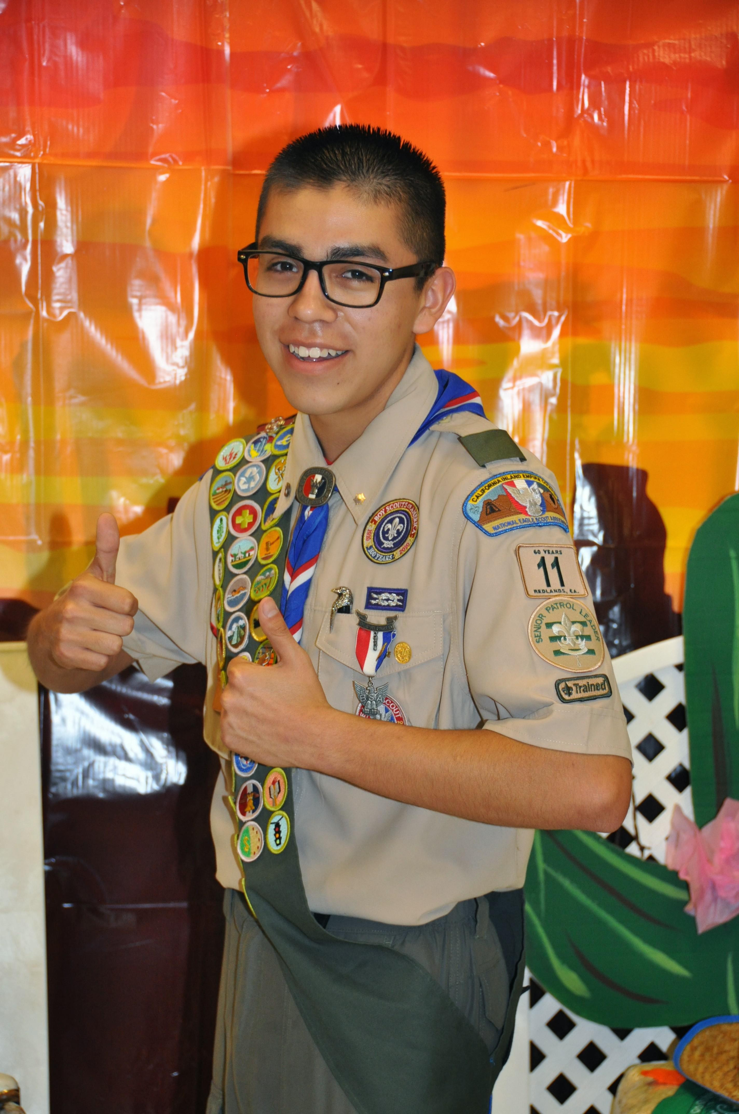 My last picture as the Senior Patrol Leader of Troop 11