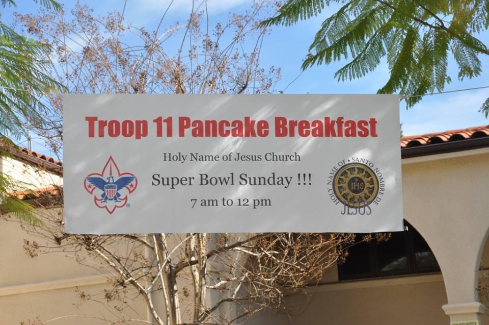 Troop 11 Pancake Breakfast, February 2, 2014