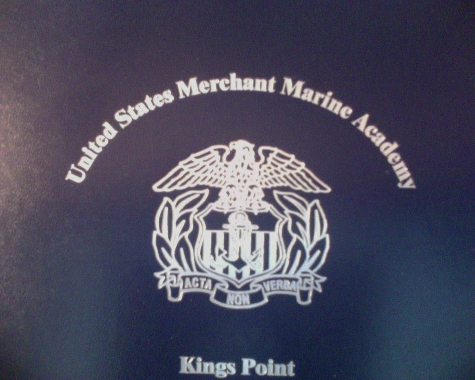 """The """"BFE"""" was a blue folder from the US Merchant Marine Academy"""