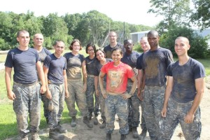 Finishing up the obstacle course during week 2 at Naval Academy Prep School