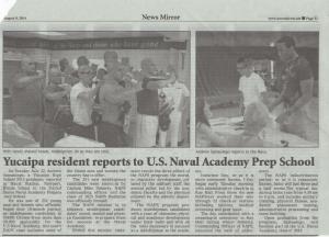 Yucaipa News Mirror Article