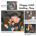 I had the honored of cutting the cake at the Navy Ball.
