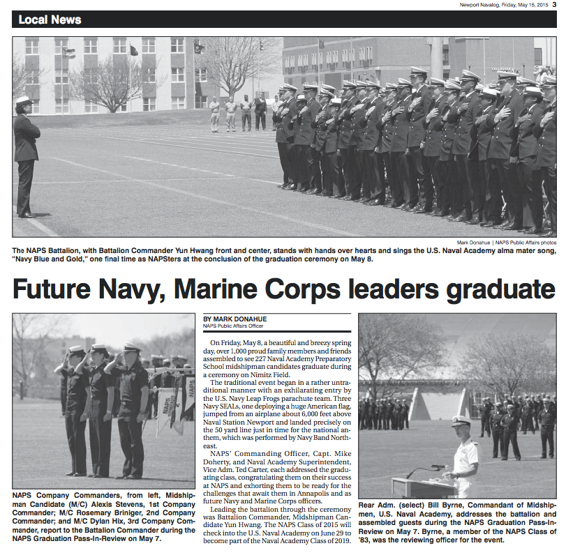 Future Navy, Marine Corp Leaders Graduate